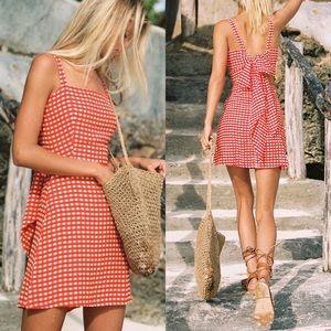 Faithfull The Brand | Ischia Dress Red Gingham M/6